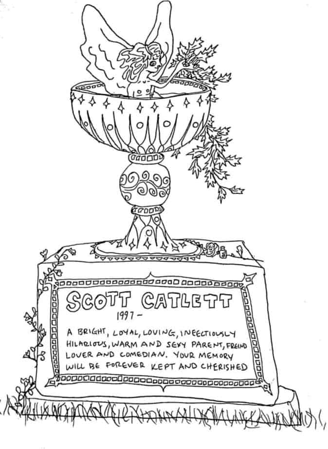 gravestone with chalice on top
